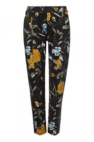 TRAMONTANA - Trousers flower print multi colour.