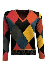 Harlequin V-neck Sweater
