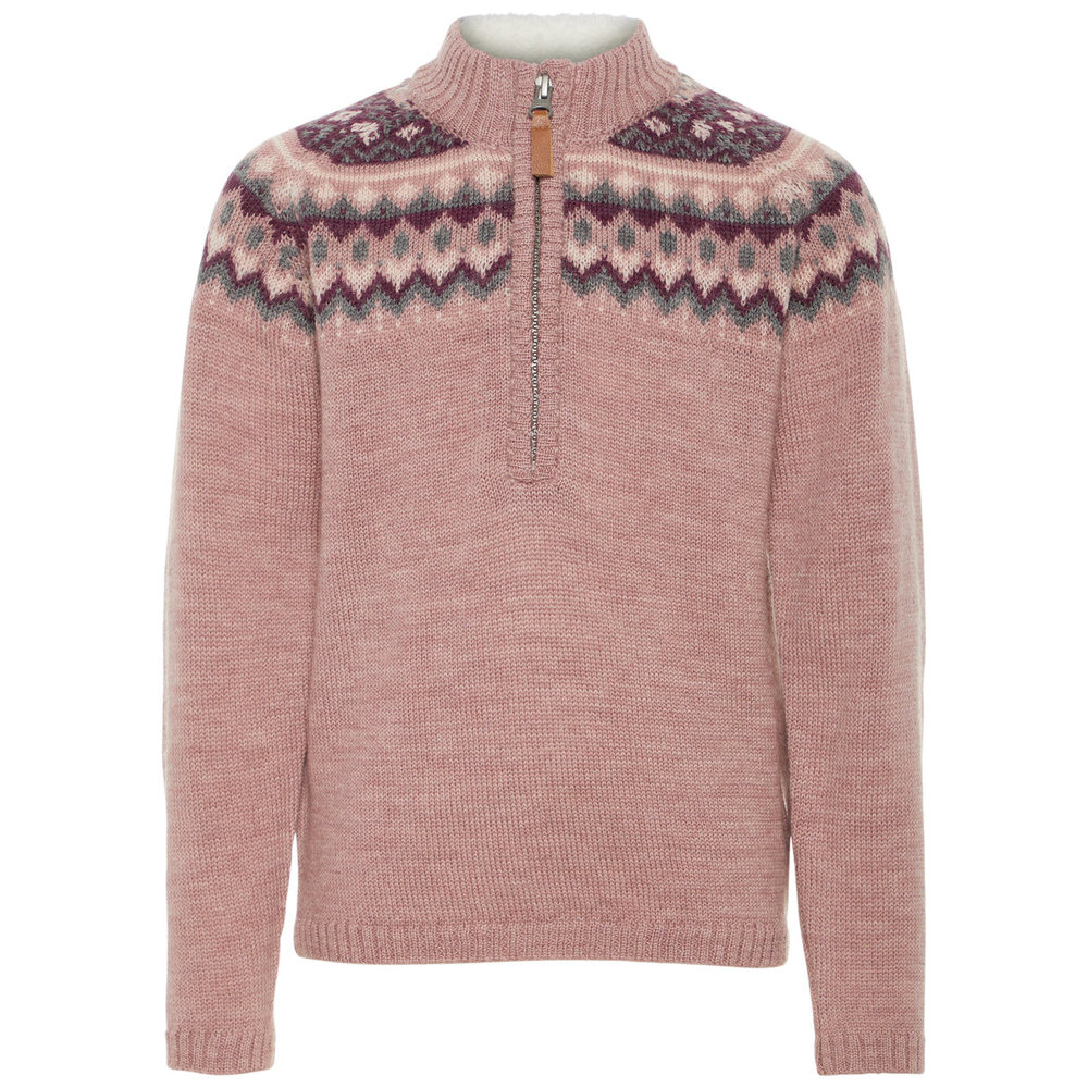 Turtleneck wool knitted