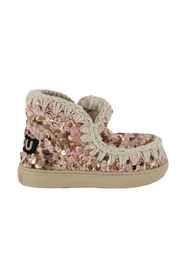 =Sequins sneakers bambina con paillettes rosa