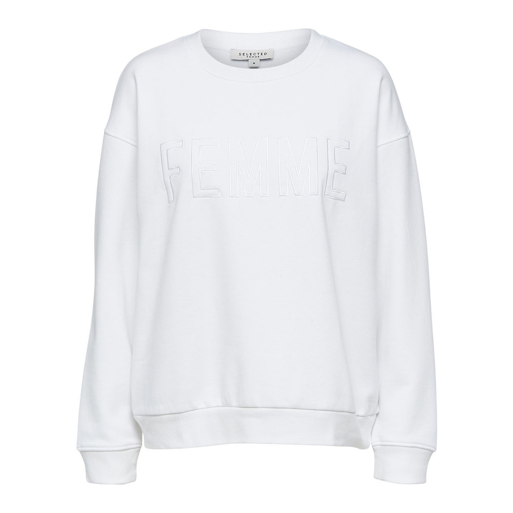 SELECTED Klassiek Sweatshirt Dames White