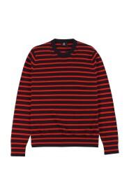 Breton-Stripe Cotton Sweater