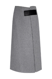 Wool skirt with cut-out detail