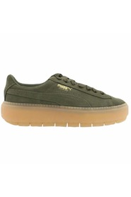 Oliven Puma Suede Platform Trace Sneakers