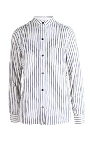 Striped Mao Collar Shirt -Pre Owned Condition Excellent