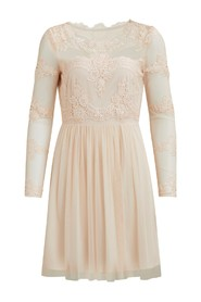Vigeorgious dress short Peach blush - Vila