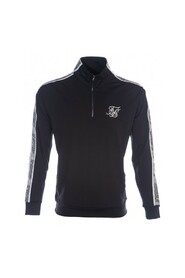 Sort Siksilk Quarter Zip Runner Genser
