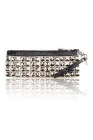 Leather and Beaded Embellished Clutch