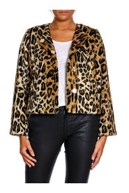 NOTES DU NORD JACKA MIKA FAUX FUR LEOPARD