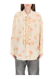 ruffled oversized shirt
