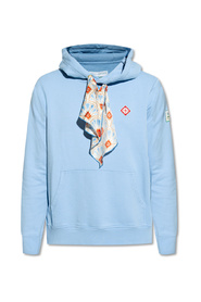 Hoodie with decorative drawcords