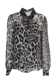 SHIRT VOILLE ANIMALIER W/FLOWERS