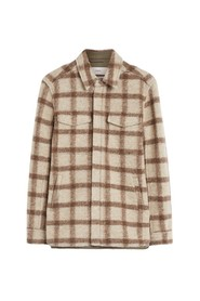 ZIPPED CHECKED OVERSHIRT