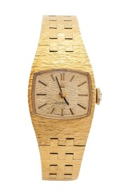 Pre-owned Champagne Gold Plated Stainless Steel Vintage H5375 Women's Wristwatch