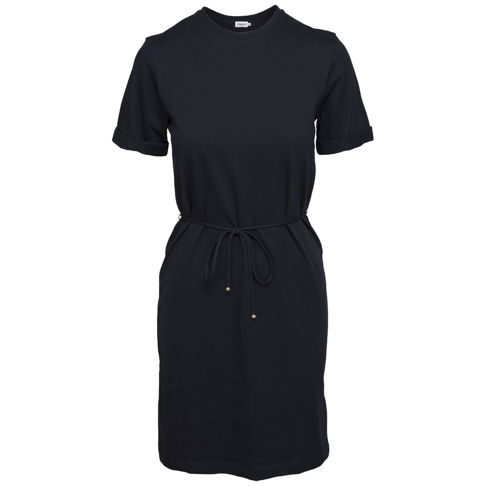 Filippa K Crew Neck T-shirt Dress Navy