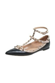 Pre-owned Ankle Strap Flats