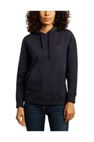 Amour organic cotton embroidered hoodie
