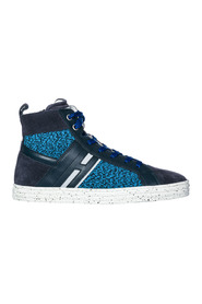 Sneakers high top leather r141