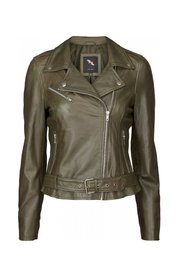 Leather Biker jacka