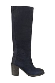 Shabbies 250191 Split Coupe Dark Blue Suede Knielaars.
