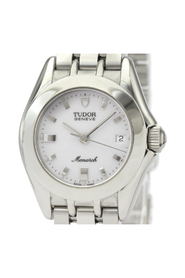 Pre-owned Monarch Quartz Stainless Steel Dress Watch 15820
