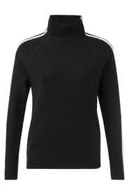 Hight neck sweater contrast