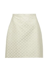 Skirt with logo details