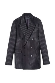 Serge Pin Striped Suit Jacket