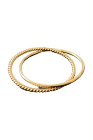 Golden Twist Connect Ring