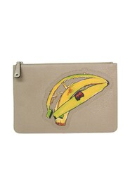 pre-owned Banana Pattern 7N0078 Leather Clutch Bag