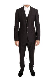 Wool Silk Slim Fit Two Button Suit