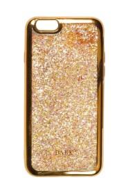 LIQUID GLITTER IPHONE COVER W/GOLD EDGE