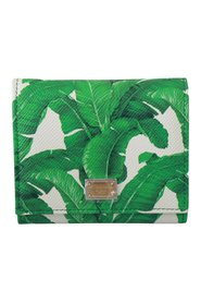 Banana Leaves Leather  Wallet