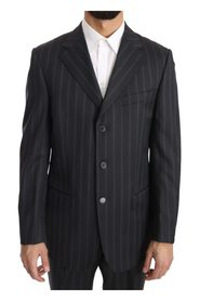 Two Piece 3 Button Wool Striped Suit