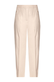 Wool trousers with stitching