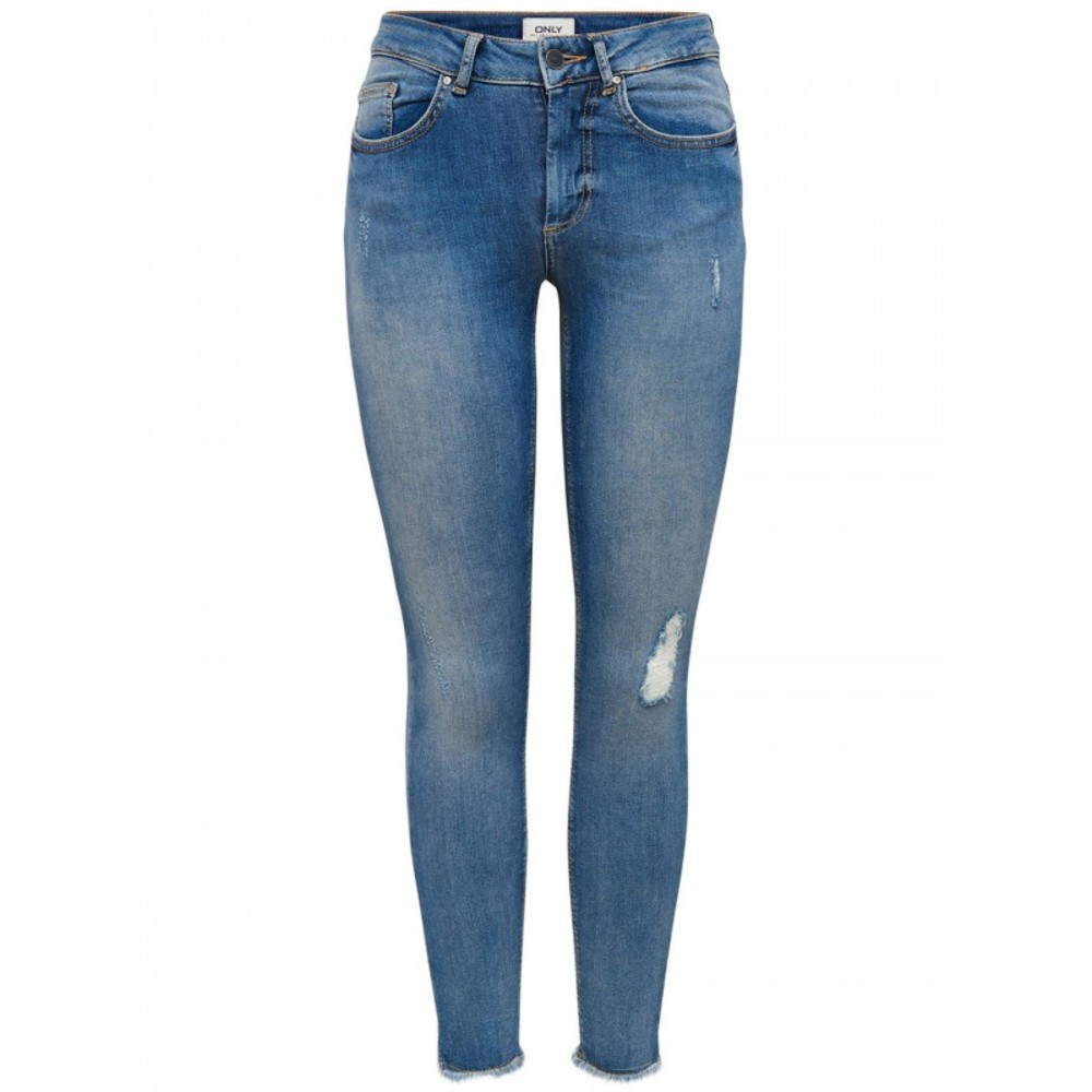 BLUSH MID ANKLE RAW JEANS
