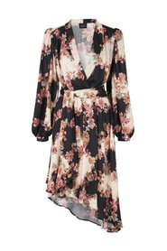 Regina Dress - Flower Black