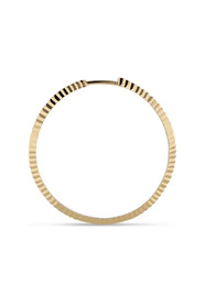 Reflection Midi hoop, gold-plated sterling silver