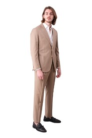 2-BUTTON SUIT WITH SPOUT-BREASTED