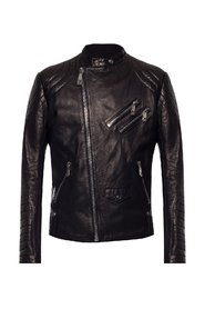 Biker jacket with logo