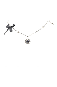 Silver-Tone Charms Necklace Metal Brass