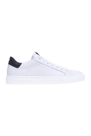 Sneakers in pelle con talloncino in cocco