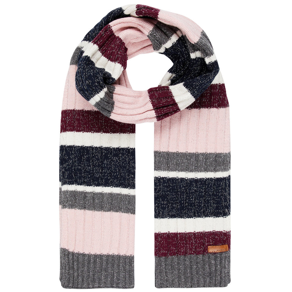 Scarf striped glitter knitted