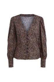 72722 animal print blouse