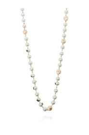 Glass-pearl necklace