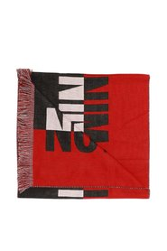 Branded scarf with lettering