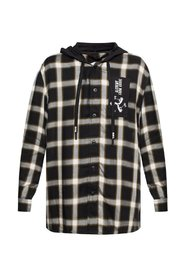 Patterned hooded shirt