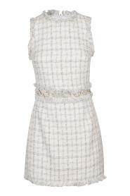 Mini dress in check print tweed