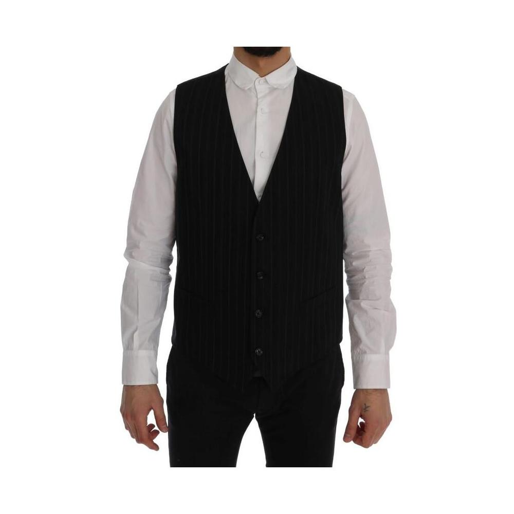 Dolce & Gabbana PERSONALE Cotton Striped Vest