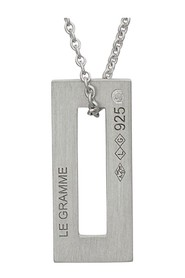 Medal Necklace 1,5 g Brushed Silver